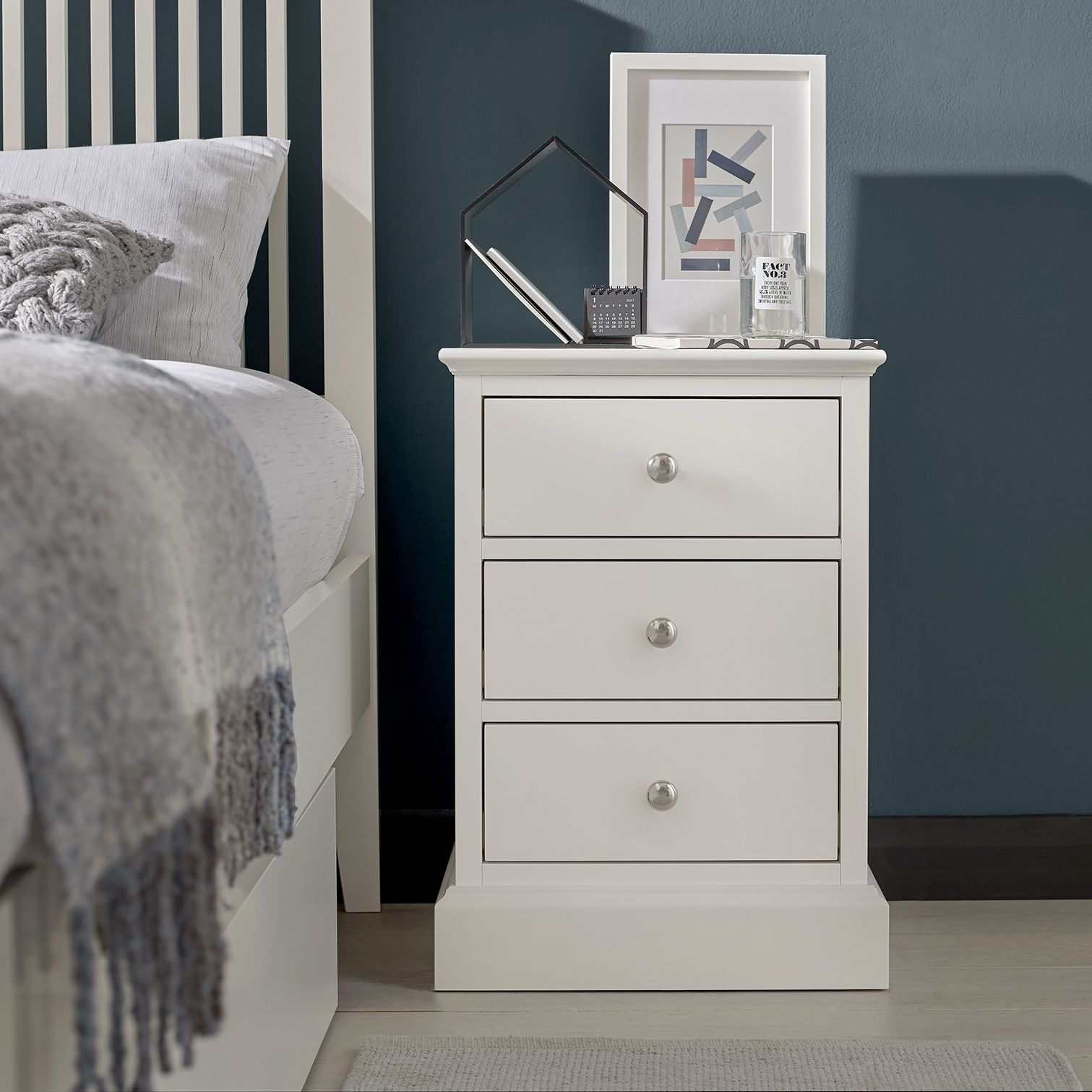 Bentley Designs Ashby 3 Drawer Nightstand
