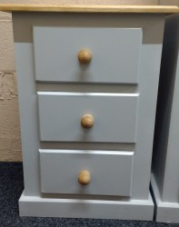 3 draw bedside chest 12
