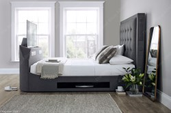 Titan Charcoal Media Bed, TV Up