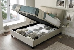 Walkworth Ottoman Bed, Oatmeal, open